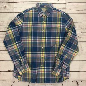 J. Crew Slim Fit Summer Plaid Button-down Shirt